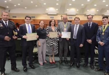 Homenagem aos empresários na Assembleia Legislativa de Goiás